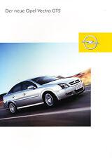 2003 Opel Vectra GTS German Prospekt Sales Brochure