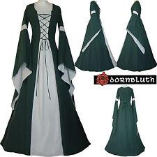 MEDIOEVO Renaissance veste vestito costume ROBE Johanna dunkelgrün-ecru xs-60