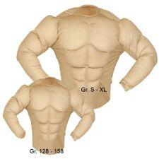 SUPER MUSKEL SHIRT Kostüm Muskelprotz Herren und Jungen Muskeln NEU 128 - XL