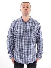Timezone Hemd Karohemd Langarmhemd blau Muster Brusttasche