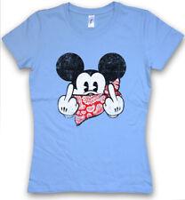 FU MOUSE DAMEN T-SHIRT Comic Gangster F*** You Mickey TV Fun Mobster