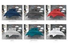 Damast Mako Satin 100% Baumwolle Bettwäsche einfarbig uni 135x200- 240x220