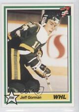 1990-91 7th Inning Sketch WHL #274 jeff gorman Prince Albert Raiders (WHL) Card