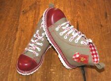 Kidstracht Trachtenschuhe Schuhe Kinderschuh rot kariert  Gr 26 - 34 Stiefel