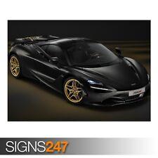 McLaren 720S mso Coupe Dubai (AE100) coche Poster-arte cartel impresión A0 A1 A2 A3