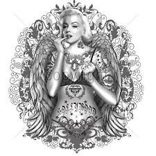 * Tattoo PinUp Flash Rockabilly Hollywood Legend Marilyn Motiv  T-Shirt *1033