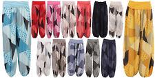 New Italian Ladies Lagenlook BOHO Hippy Hareem Baggy Alibaba Yoga Trousers Pants