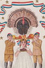 Patriotic Turkey Thanksgiving Children Postcard