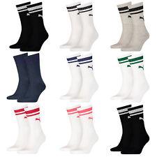 Puma 2 Paar CREW HERITAGE STRIPE Unisex Socken Retro Sportsocken Strümpfe Socks
