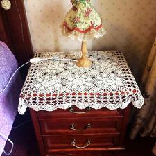 Hand Crochet Tablecloth Vintage Cotton Sofa Towel Table Mats Wedding Party Decor