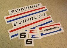 Evinrude Fisherman Vintage Decal Kit 6 HP Die-Cut FREE SHIP + FREE Fish Decal!