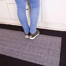 Black Grey Washable Kitchen Mats Modern Easy Clean Anti Slip Geometric Door Mats