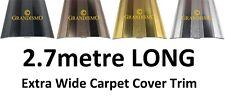 2.7metre LONG - Extra Wide 61mm Carpet Cover Door Strip - Trim Metal Threshold