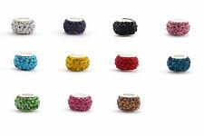 Shamballa Großlochperle Farbauswahl 12 mm, ID 5 mm | Für Leder + Bänder
