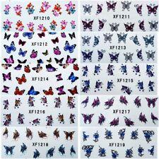 Nagelsticker Fingernägel Aufkleber Tattoo Nail Art Schmetterling 10 Motive XF
