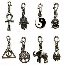 Keyring, Key Chain, Bag Charm, Bag Clasp  Zip Puller - Hippie, Surf, Goth,
