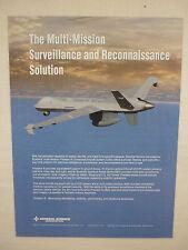 6/2011 PUB GENERAL ATOMICS AERONAUTICAL DRONE PREDATOR B UAS ORIGINAL AD