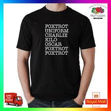 Foxtrot F * CK fuera Tee tshirt t-shirt Funny Grosero obsceno Adulto ofensivo fonética