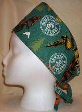 Sports Themes Surgical Scrub Hat Skull Cap Cotton Fabric You Pick Medical Nurse