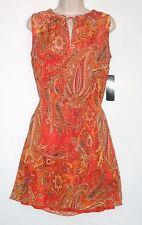 NWT MSRP $140/$150 LAUREN RALPH LAUREN Paisley Chiffon Blouson Dress, Multicolor