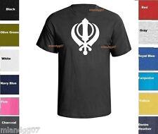 Sikh Khanda Sword Symbol T-Shirt  Guru Indian Shirt SIZES S-5XL