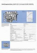 Mercedes 2429 S 6x4/2 Pritsche 290 PS Prospekt Technische Daten 1990 Lkw Germany