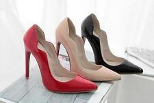 Stiletto Scarpe decolte eleganti donna spillo 12 rosso nero beige albicocca 8553