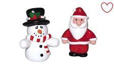 Christmas Cake Decorations Figures Santa Snowman Cake Topper