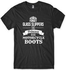 Olvídate de vidrio Zapatillas de esta princesa lleva Moto Botas Para Hombre Divertido Camiseta