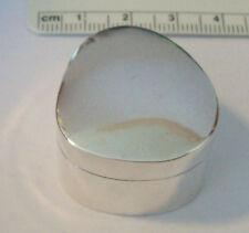 Sterling Silver 26 gram 31x31x21mm Teardrop Heavy Trinket Pill Box