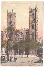 Postcard Notre Dame Church Montreal Quebec Canada 1926