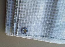 Telo occhiellato Cristal bianco Impermeabile plastificato retinato Gr 190 ITALIA