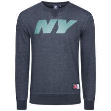 NEW York Jets NFL Majestic Uomo Crew Felpa Sweater American Football Nuovo