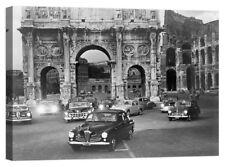 Stampa su Tela Vernice Effetto Pennellate roma foto vintage