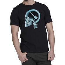 Guitar auf das Gehirn X-Ray Herren Gitarre Musik Shirt