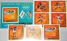 ADEN MAHRA 1968 115-21 B Block 13 B Olympics Olympia USA Medal Winner MNH
