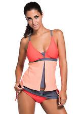Woman's New Colorblock Tankini Skirt Bottom Swimsuit / Many Colours / Small Plus