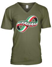 Italian Forever Infinity Symbol Italy Flag Colors Heritage Men's V-Neck T-Shirt