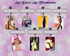 ART DECO CAR AIR FRESHENER LADY RETRO DANCING GIFT IDEA SINGLE OR DOUBLE PAK