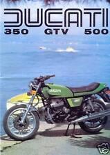DUCATI 350 & 500 GTV TWIN 1975 prospetto ITALIA AUTO D'EPOCA DA COLLEZIONE