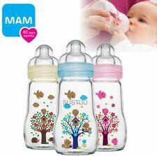 MAM Infant Chemical free Heat Resistant Baby Milk Formula Glass Bottle - 260ml