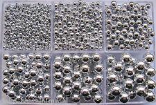 Wachsperlen silber glänzend, Kunststoffperlen, Perlen basteln, Perlensterne