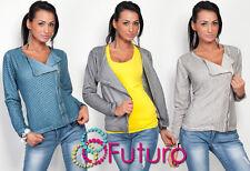 Sensible Women's Sweater With Zipper Biker Jacket Style Long Sleeve FT488