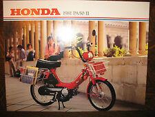 1981 HONDA MOPED PA50 II NOS OEM DEALERS SALES LITERATURE BROCHURE PA 50II 50 81