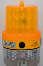 BD8LI AMBER Beacon Barricade Light 8 LED's Warning Safety 1000 Hours DAY/NIGHT