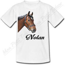 T-shirt Adulte Cheval avec Prénom Personnalisé - du S au 2XL