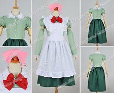 Axis Powers:Hetalia Cosplay Hungary Costume Lovely Maid Dress Pink Headbands New