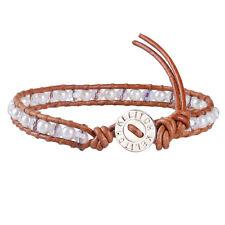 Classic Beads Genuine Leather Single Wrap Friendship Bracelets Handmade Jewelry