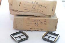 Gürtelschnalle Roll-Schnalle Buckle 35 mm, Antik Gold oder Antik Platin, 1980er