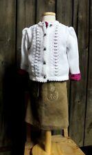 Kids Costume Maglia Giacca Gilet Bianco Trachten Gilet per Dirndl M lavorazione a trecce 68 -164